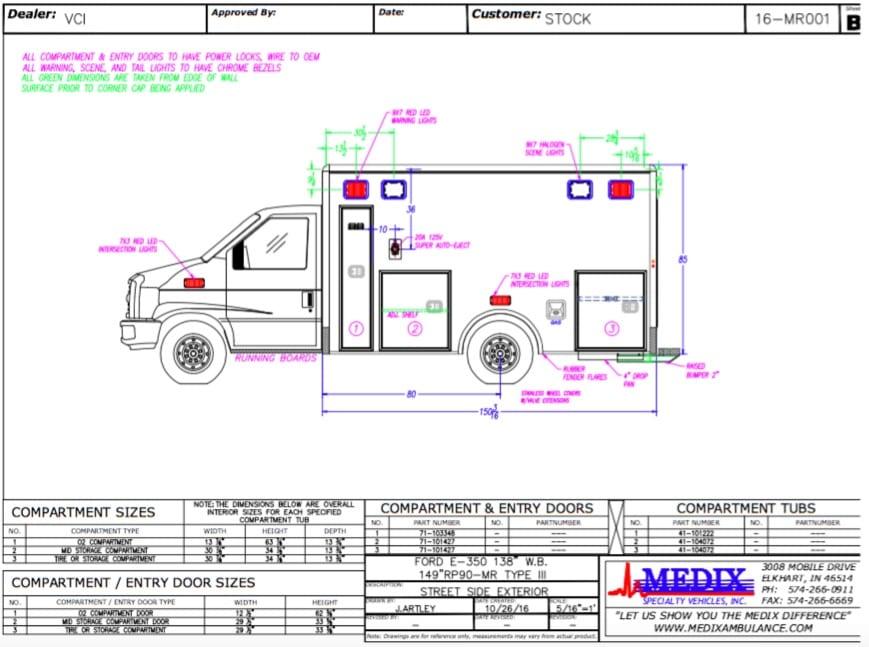 Medix Ambulance Stock 16 MR001 2017 medix rp90mr ford e 350 gas ambulance for sale gorman enterprises